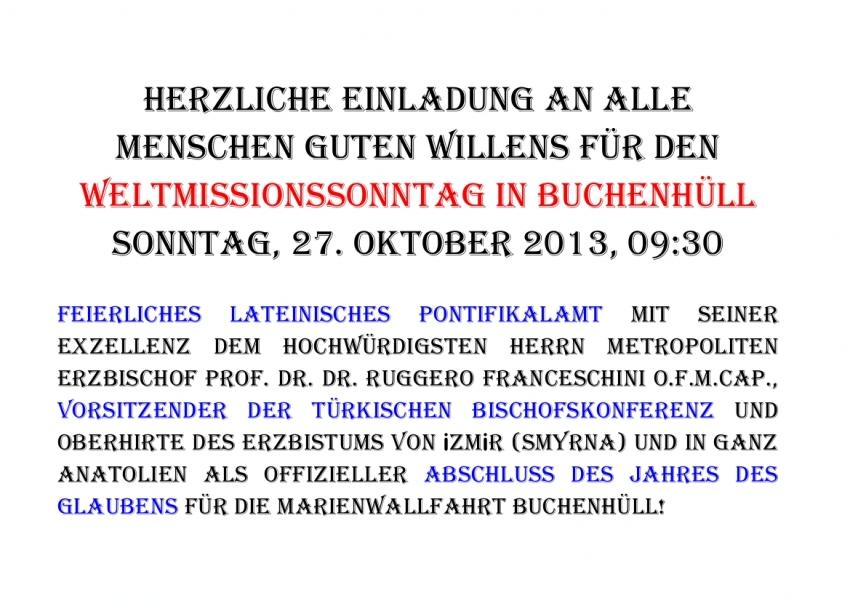 tÜrkei: kathedrale st. johannes in izmir wiedererÖffnet, Einladung